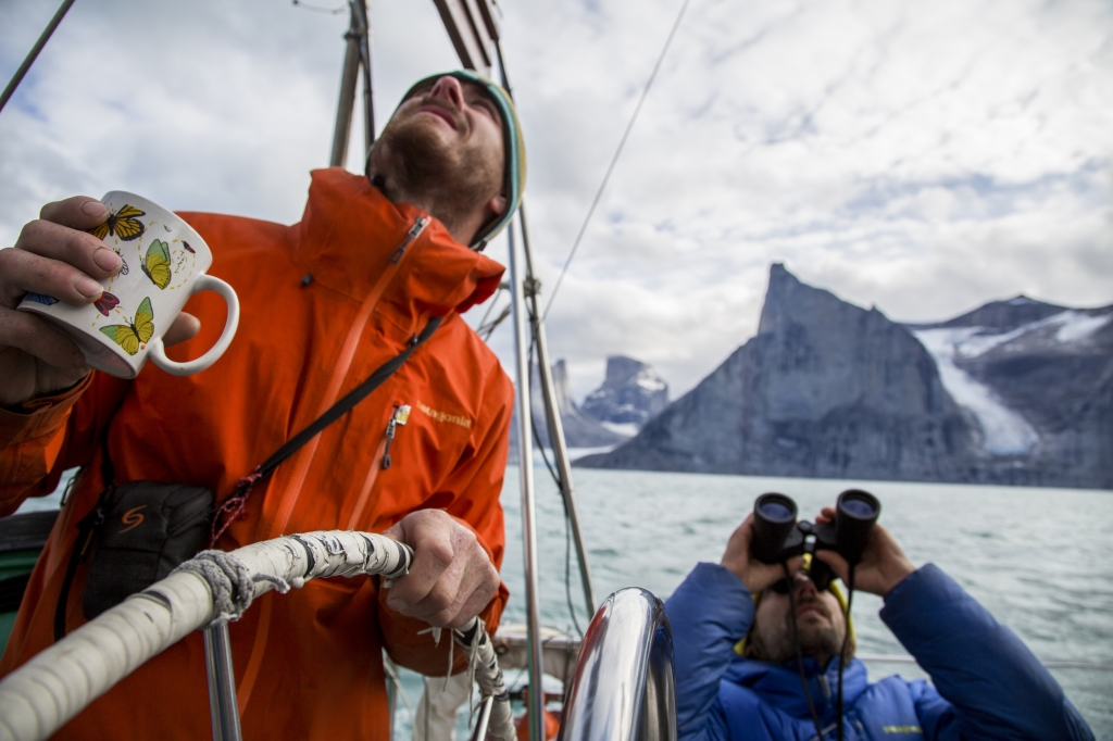 nico olivier and sean scope new routes in the sam ford fjord of Baffin Island