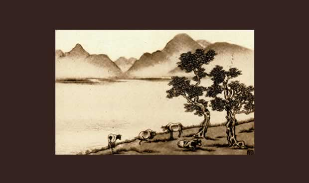 Chiang Yee image of Derwentwater