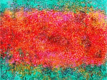 蕊拉丝钉.樱,H40^W50cm,布面油画,2007年,赵燕峰作品