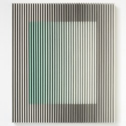 于洋,《一支颜料和2ml墨-石绿》、120cm x 95cm、纸本水墨,木、2016