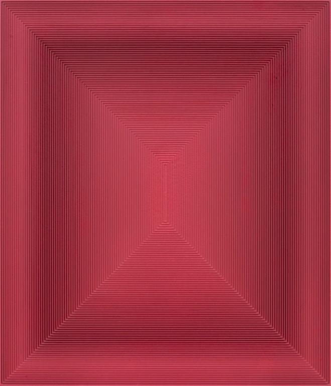 戈子馀, 波系列-28,  综合材料, 64×74cm, 2016